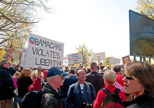 anti-obamacare protestors