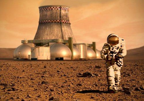 Mars colony terraforming